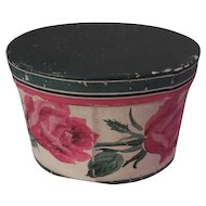 Vintage Wallpaper Hat Box