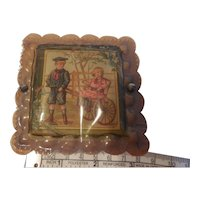 Tiny Box with with Boy Pulling Girl in Cart