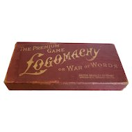 "Vintage Card Game ""LOGOMACHY"" from Milton Bradley"