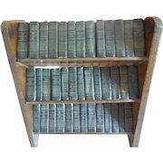 Set of 39 Shakespeare Mini Books in Wood Bookcase
