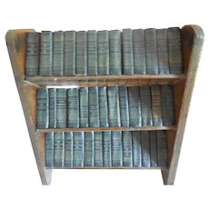 Set of 39 Shakespeare Mini Books in Wood Bookcase