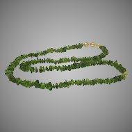 Artisan Crafted Genuine  Over 1000 Cts of Peridot With 14 Karat Gold over Sterling Designer Findings