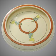 Roseville Juvenile Yellow Sunbonnet Rolled Edge Plate