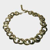 Vintage Givenchy Bold Goldtone Necklace