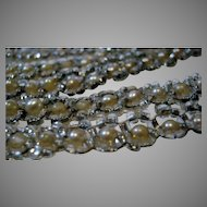 "Vintage Original ""Flapper"" Beads With Faux Pearls and Crystals"