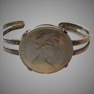 1972 Bermuda .925 Sterling Silver Dollar Sterling Bracelet
