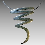 """Sterling Modernist Pin/Pendant on a 16"""" Sterling Chain"""