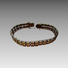 14 Karat Yellow Gold Diamond Cut Bracelet