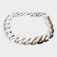 Vintage Napier Brushed Silvertone Necklace