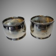 Vintage  Sterling Napkin Rings in Presentation Box