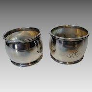 Vintage  Sterling Napkin Rings in Presentation Box