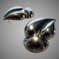 Sterling Silver Bayanihan Massive but Light French Clip Earrings