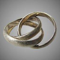 Sterling Silver Trio of Interlocking Rings