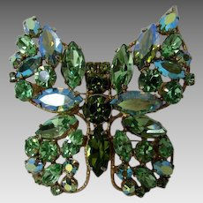 Vintage Regency Butterfly in Peridot Tones