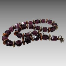 Artisan Amethyst Crystals With Burnished Copper Spacers