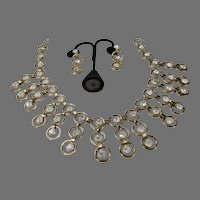 Vintage Statement Necklace and Earring Set in Runway Proportions