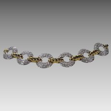 Nolan Miller Goldtone Bracelet Loaded With Pave Crystals