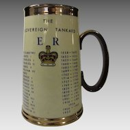 Royal Commemorative The Soverign Tankard Queen Elizabeth I to Elizabeth II