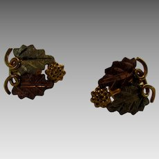 10 Karat Petite Black Hills Gold Earrings in Multi Tones