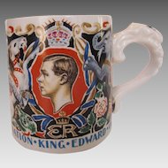 King Edward VIII Commemorative Scarce Burleigh Ware Laura Knight Mug