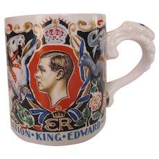 King Edward VIII Commemorative Scarce Burleigh Ware Laura Knight Mug