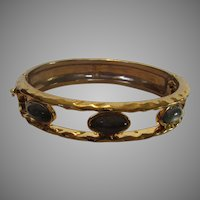 Vintage Robert Lee Morris Bangle Enhanced With Faux Moonstones