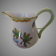 Herend Mini Pitcher In Butterflies and Flowers Pattern Old Mark