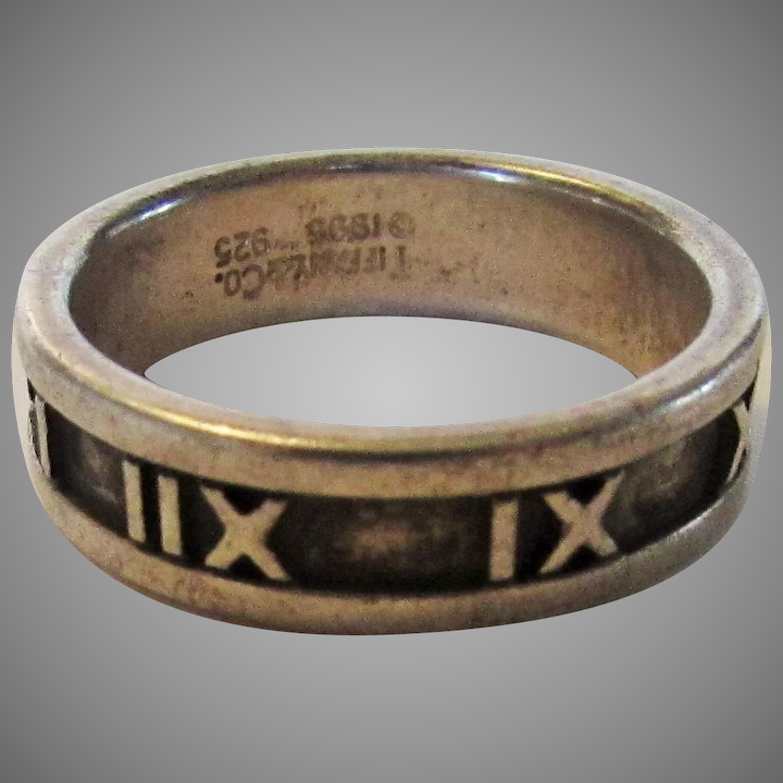 bcb10db5d Tiffany and Co. Sterling Roman Numeral Ring Dated 1995 : Style and Grace    Ruby Lane
