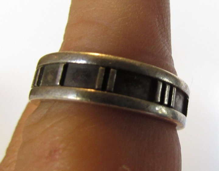 d7b282dfb Tiffany and Co. Sterling Roman Numeral Ring Dated 1995 : Style and ...