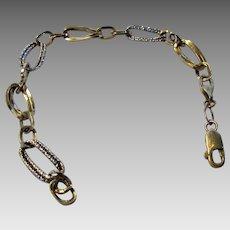 18 Karat Yellow and White Gold Bracelet