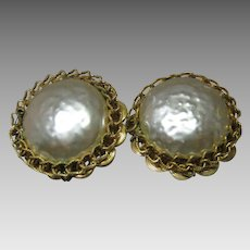 Haskell Button Earrings