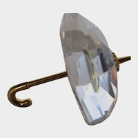 Mini Crystal Umbrella With Gold Tone Handle