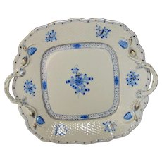 Herend Serving Plate in Blue Garden Design