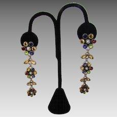 Sterling Silver Gemstone Pierced Earrings