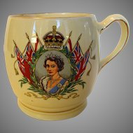 Queen Elizabeth II Coronation Mug Dated June 2, 1953 Made by Minton