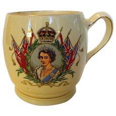 Queen Elizabeth II Coronation Mug Dated June 2, 1953 Made by Minton