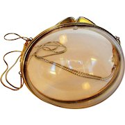 Judith Lieber Lucite Bubble Purse With Double Goldtone Chains