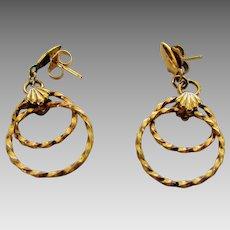 14 Karat Yellow Gold Earrings in Classic Style