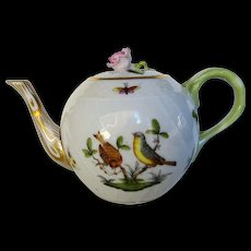 Herend Hand Pained Mini Teapot in Rothschild Pattern