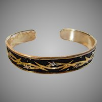 Sterling Silver Montana Silversmith Bangle With Anodized Top