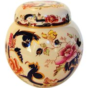 Vintage Mason of England Porcelain Ginger Jar in Mandalay Pattern