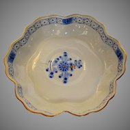 Herend Hand Painted Blue Garden Pattern Low Bowl