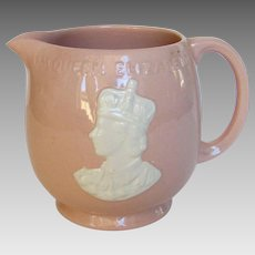 Queen Elizabeth II Pink Pitcher Coronation Mug by Johnson Brothers Rosedawn