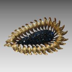 H.A.R. Teal Blue Rhinestone Pin