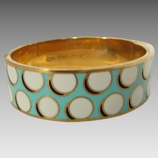 "Vintage Kate Spade Dotted Bangle Entitled ""On The Ball"""