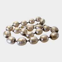 Vintage Miriam Haskell Mid Century Faux Pearl Necklace