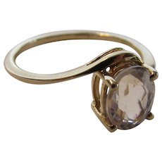 10 Karat Yellow Gold Morganite Ring