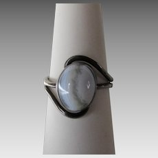 Sterling Silver Banded Agate Ring