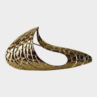 Vintage Signed MJent Modernist Goldtone Pin