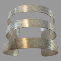 Sterling Silver Designer Signed Statement Cuff